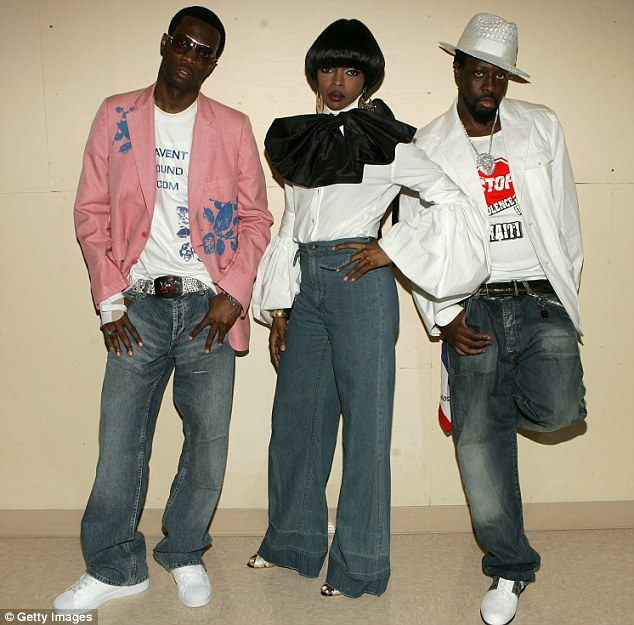 : Pras Michel, Lauryn and Wyclef Jeans of the Fugees are shown in June 2005 in Los Angeles