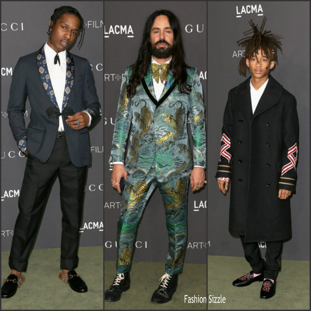 2e1f22023 ASAP Rocky , Alessandro Michele , & Jaden Smith At 2016 LACMA ART + FILM  GALA