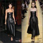 Bella Hadid In Christian Dior Leaving Hotel In New York