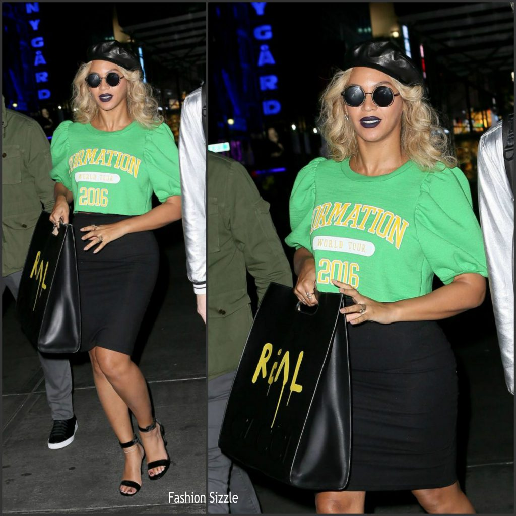 3877b23ca44 Beyonce In Gucci Out In New York - Fashionsizzle