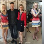 Dakota Fanning , Ewan Mcgregor, & Valorie Curry AT New York  Build Series