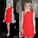 Dakota Fanning In Alexander McQueen At Empire State Building, New York