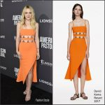 Dakota Fanning  In David Koma At American Pastoral LA Premiere
