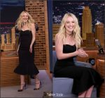 Dakota Fanning  In Dolce and Gabbana At  Tonight Show with Jimmy Fallon