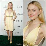 Dakota Fanning In Miu Miu At 2016 ELLE Women in Hollywood Awards