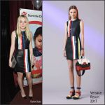 Dakota Fanning In Versace  At Save the Children Lights Up Empire State Building for International Day of the Girl