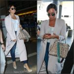 Demi Lovato  In House Of CB arriving  at LAX Airport