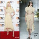 "Elle Fanning  In Rodarte At ""20th Century Women""  New York Film Festival  Premiere"