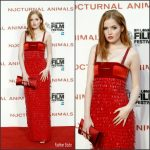 """Ellie Bamber In Tom Ford  At """" Nocturnal Animals """" Premiere At BFI London Film Festival"""