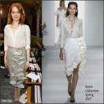 Emma Stone In Brock Collection At The 2016 CFDA/Vogue Fashion Fund Event