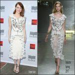 Emma Stone  In Rodarte  At Mill Valley Film Festival Opening Night Premiere