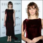 Felicity Jones  In  Christian Dior At 2016 ELLE Women in Hollywood Awards