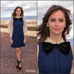 "Felicity Jones In Gucci  At ""Inferno"" Italy Photocall"