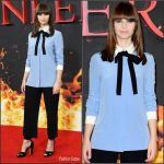 Felicity  Jones  In  Gucci  At The  'Inferno' London  Photocall