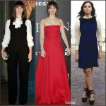 Felicity Jones  In  Rodebjer, Staud , Gucci & Valentino  At  'Inferno' Florence Photocall  & Premiere