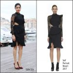 Freida Pinto in Self-Portrait  At Guerrilla Photocall In  Cannes
