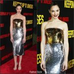 "Gal Gadot  In Dolce and Gabbana  At ""Keeping Up With The Joneses"" LA Premiere"