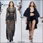 Gigi Hadid  rocks   Giambattista Valli Spring/Summer 2017   Paris Fashion Show