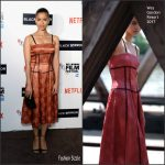 Gugu Mbatha-Raw  In Wes Gordon At  The 'Black Mirror ' 60TH BFI London Film Festival Premiere