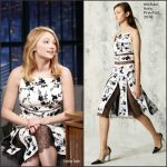 Haley Bennett  In Michael Kors  At Late Night With Seth Meyers