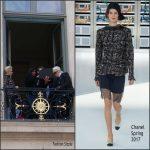 Kristen Stewart  In Chanel At  Photoshoot with Karl Lagerfeld In Paris