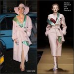 Lady Gaga  In  Atelier  Versace Coat   Out In New York