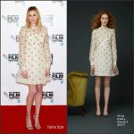 Laura Carmichael In Orla Kiely   At 'A United Kingdom' 2016 London Film Festival Photocall