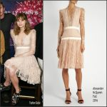 """Makenzie Leigh In Alexander McQueen At"""" Billy Lynn """" NY  Film Festival Press Conference"""
