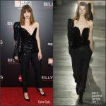 Makenzie Leigh In Saint Laurent At Billy Lynn Premiere  At  New York Film Festival