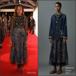 Naomie Harris In Valentino At   BFI London Film Festival  Moonlight Premiere