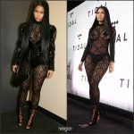 Nicki Minaj In Margiela &  Lanvin  At Tidal X: 1015 Benefit Concert At Barclays Center