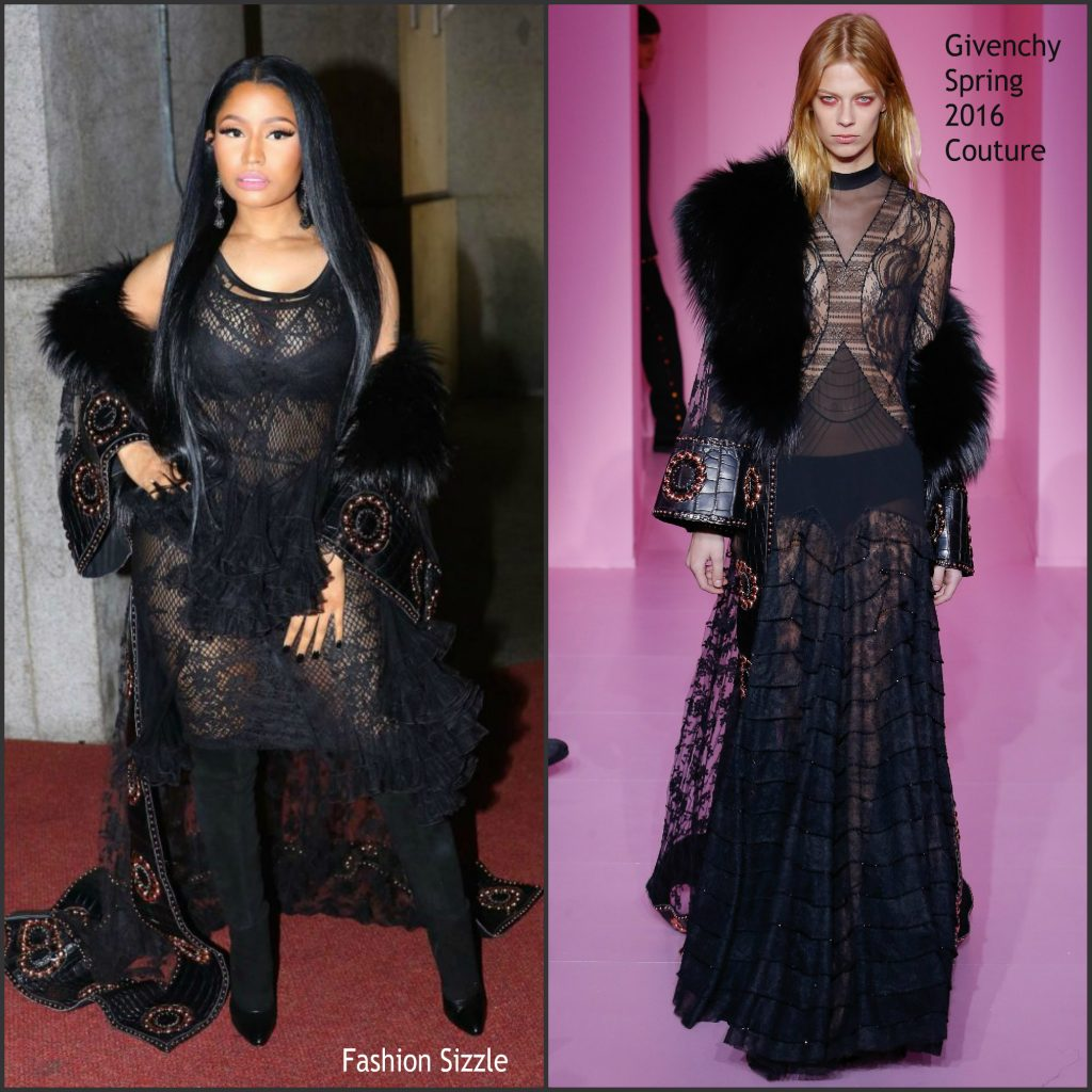 Nicky minaj in givenchy couture at 2016 fashion group Nicki minaj fashion style 2016