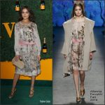 Olivia Culpo  In Alberta Ferretti    At The 7th   Veuve Clicquot   Polo  Classic LA