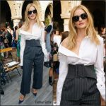 Rosie Huntington-Whiteley in Monse At CFDA/Vogue Fashion Fund Event