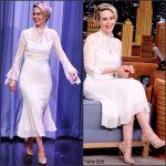 Sarah Paulson In Prabal Gurung At Tonight Show Starring Jimmy Fallon