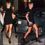 Taylor Swift  In Helmut Lang  & Wilfred Free – Out In New York