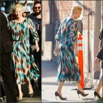 Tilda Swinton  In  Schiaparelli  At  'Jimmy Kimmel Live'