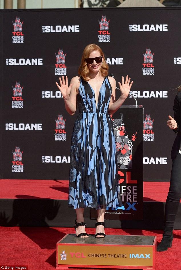 jessica-chastain-in-j-mendel-at-hand-and-foot-ceremony