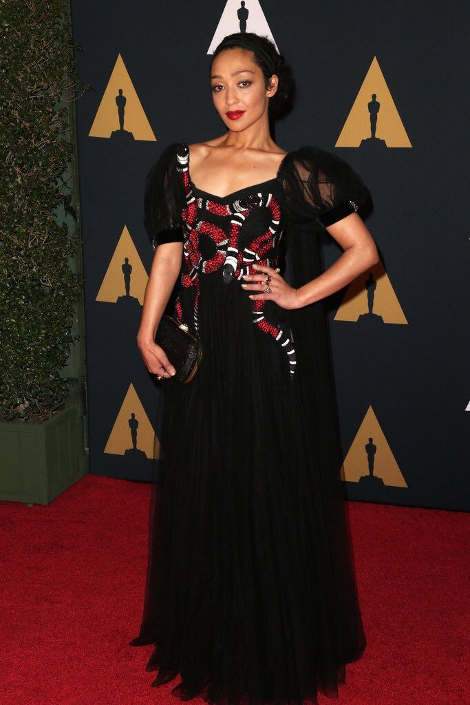 Ruth- Negga-in-gucci--at-the-2016-governors-awards