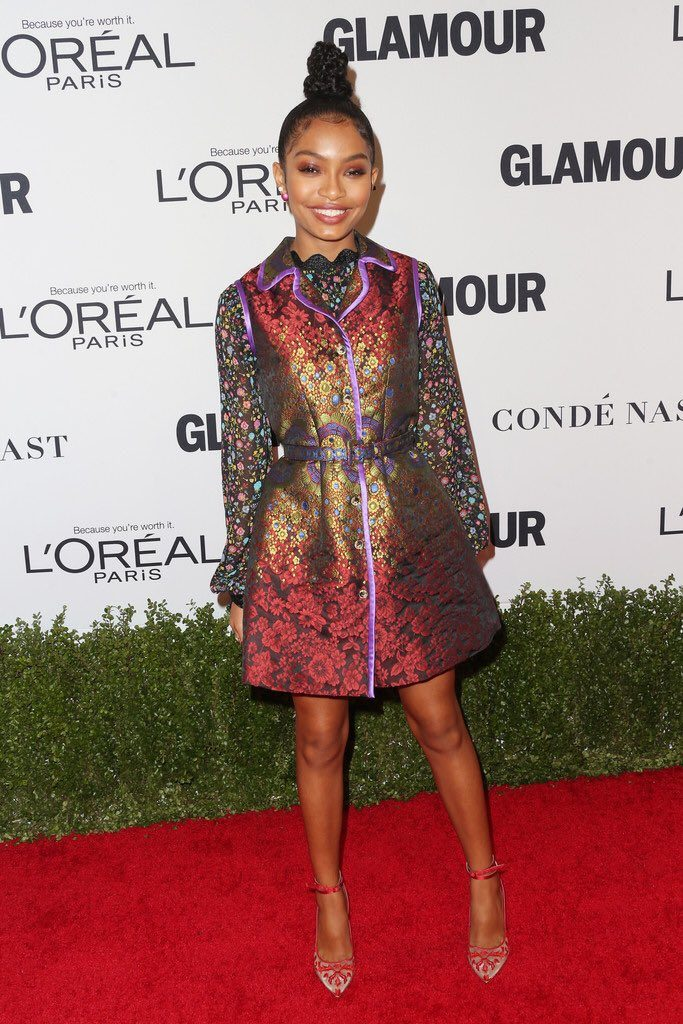Yara -Shahidi - kat-graham-in-victoria-hayes-at-glamour-women-of-the-year-2016