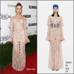Amber Heard  In Alessandra Rich  At Glamour Women Of The Year 2016