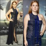Amy Adams  In Versace  At The 'Arrival' LA Premiere