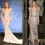 Beyonce In Zuhair  Murad  Couture  AT The 50TH CMA Awards
