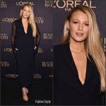 Blake Lively  In Lanvin At L'ORÉAL Paris Women Of Worth Awards