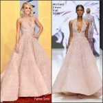 Carrie Underwood In Michael Cinco At  The 50TH CMA Awards