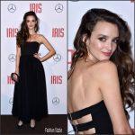 "Charlotte Le Bon  In Christian Dior At The   ""Iris"" Paris Premiere"