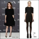Emma Stone  In Dolce and Gabbana  At Variety Studio: Actors on Actors Event In  LA