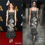 Emma Stone In Erdem At The 2016 Governors Awards