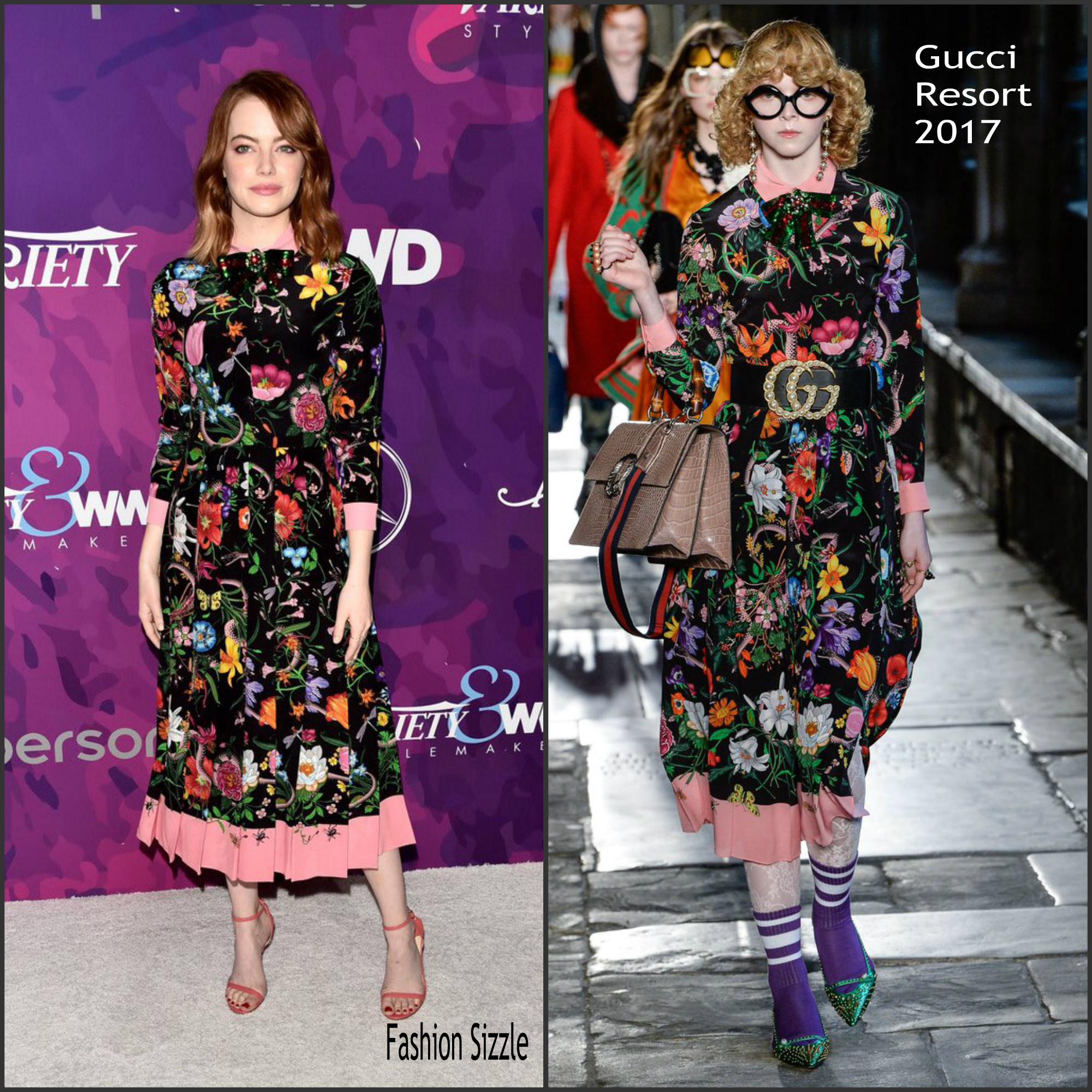 Emma stone in gucci at the 2016 stylemakers awards for Tile fashion 2016