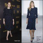 Emma Stone  In  Michael Kors  At HFPA & InStyle Celebrate The 2017 Golden Globe Award Season